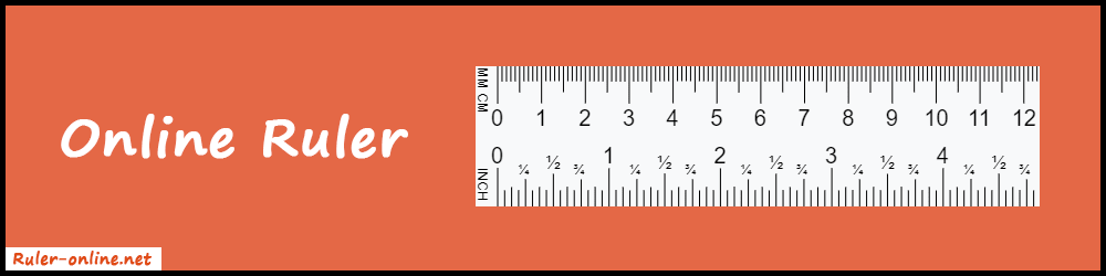 Online Ruler - cm, mm, inches